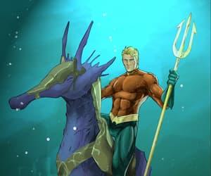 aquaman, atlantis, and illustration image