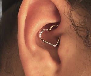 heart, piercing, and earrings image