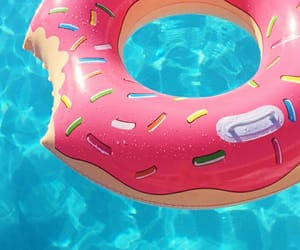 donut, floaty, and pool image