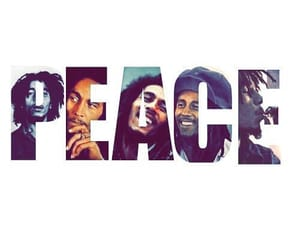 peace, bob marley, and reggae image
