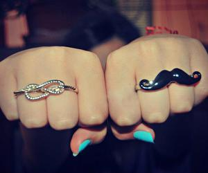 infinity, mustache, and rings image