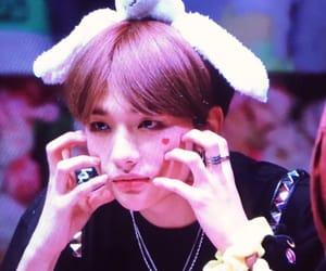 big lips, heart, and idol image