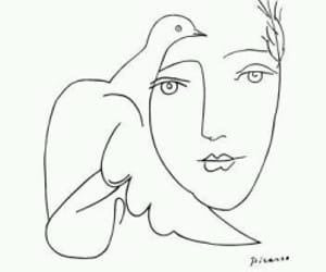 picasso, art, and bird image