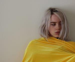billie eilish, yellow, and bored image