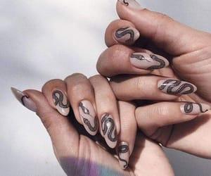 black, nail art, and Nude image