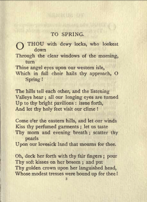 William Blakes To Spring Uploaded By 𝕾𝖆𝖗𝖗𝖆 𝕺