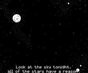 gif, words, and stary night image