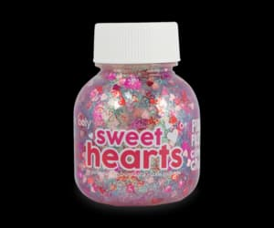 glitter, hearts, and pastel image