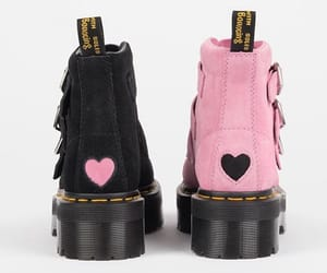dr martens, heart, and shoes image