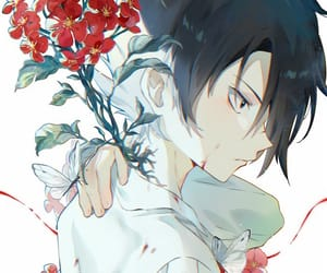 anime boy, yakusoku no neverland, and the promised neverland image