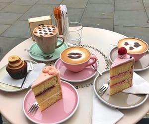 aesthetics, cafe, and cake image