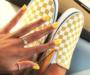 vans, yellow, and nails image