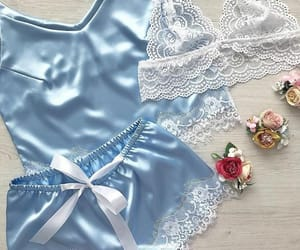 blue, lingerie, and style image