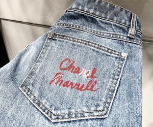 fashion, jeans, and chanel x pharrell image