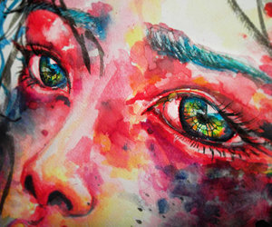 art, paint, and eyes image