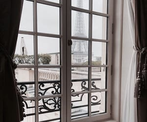 france, paris, and window image