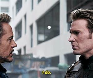 Avengers, captain america, and tony stark image