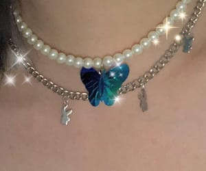 blue, silver, and butterflies image