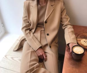 beige, outfit, and outfits image