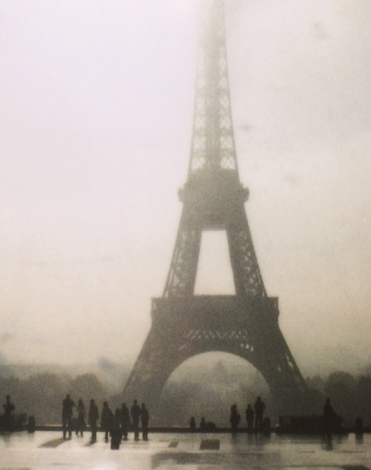 eiffel tower, black and white, and paris image