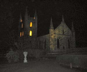 castle, lights, and midnight image