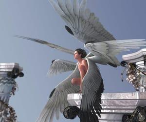 angel, animated, and beautiful image
