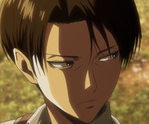 anime, attack on titan, and levi image