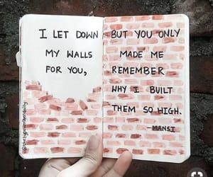 quotes, wall, and sad image