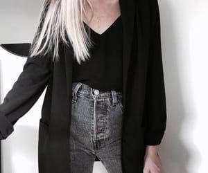 black, blonde, and cardigan image
