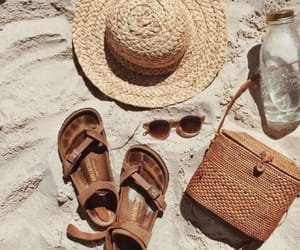 beach, sand, and sandals image
