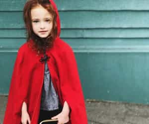 doughter, little red riding hood, and photography image