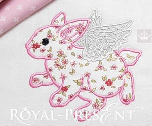 embroidery design, happy easter, and embroidery pattern image