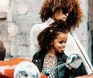 beauty, curls, and daughter image