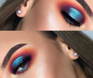 eyeshadow, make up, and maquillaje image