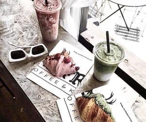 croissants, drinks, and fresh taste image