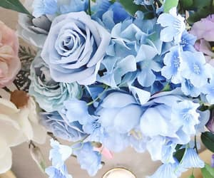 baby blue, bouquet, and blue image