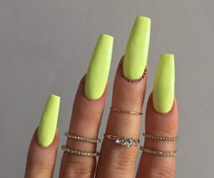 girl, nails, and green image