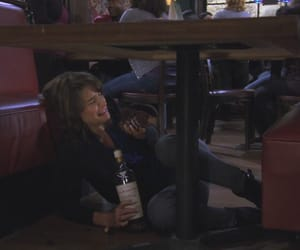 Barney Stinson, crying, and drinking image