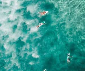 blue, sea, and surfers image