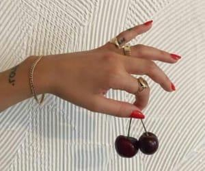 cherries, hands, and cherry image