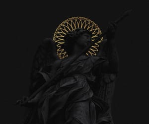 statue, black, and art image