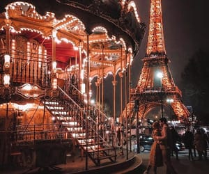 eiffel, france, and lumiere image