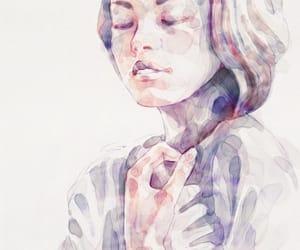 drawing, art, and watercolor image
