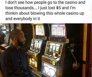 casino, funny, and fun image