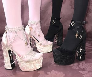 shoes, pink, and black image