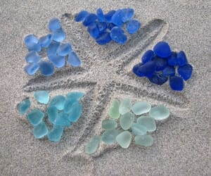 blue, sand, and beach image