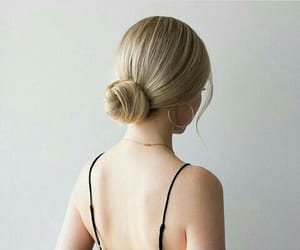bun, girl, and hair image