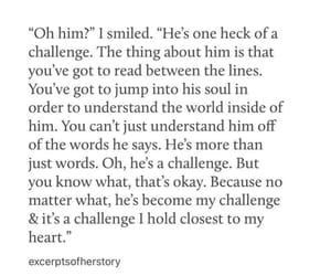 challenge, he, and love image