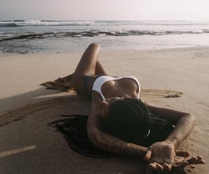 beach, relax, and beauty image