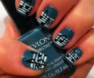 nails, music, and blue image